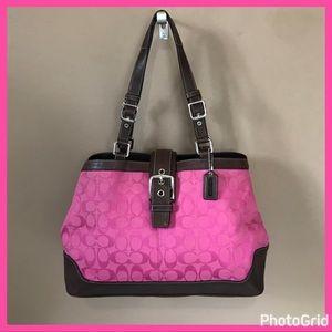 Coach Hamptons Carry All Purse Tote Bag